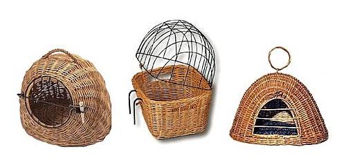 Плетеные корзины для кошек