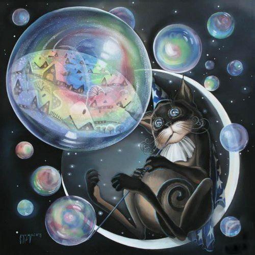 мыльные пузыри для кошек