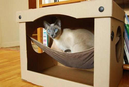 сделать домик для кошки,